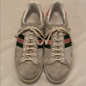 Gucci green and pink tennis shoes